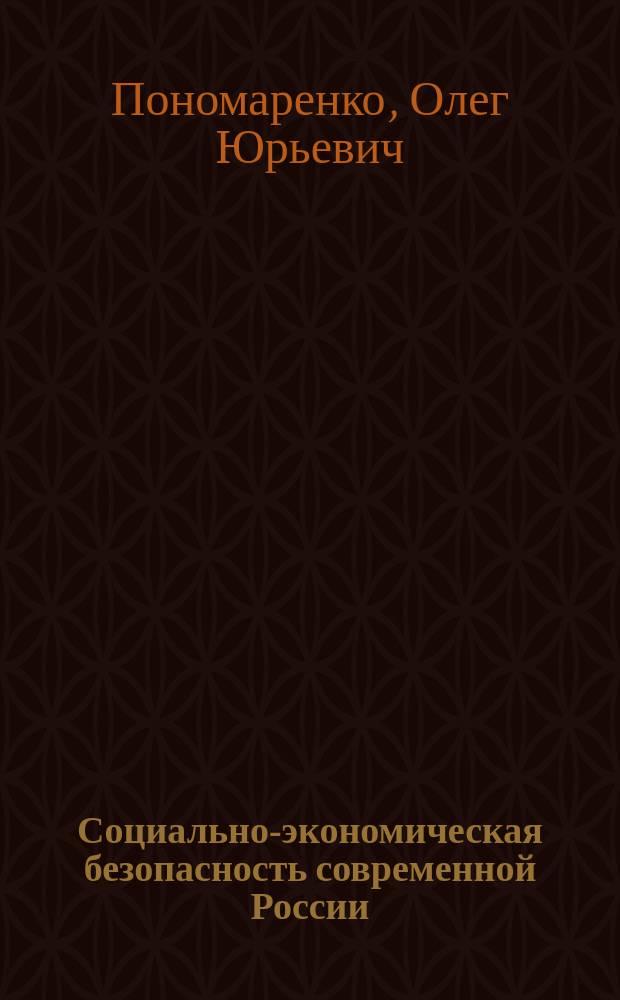 Социально-экономическая безопасность современной России : Автореф. дис. на соиск. учен. степ. к.э.н. : Спец. 08.00.01
