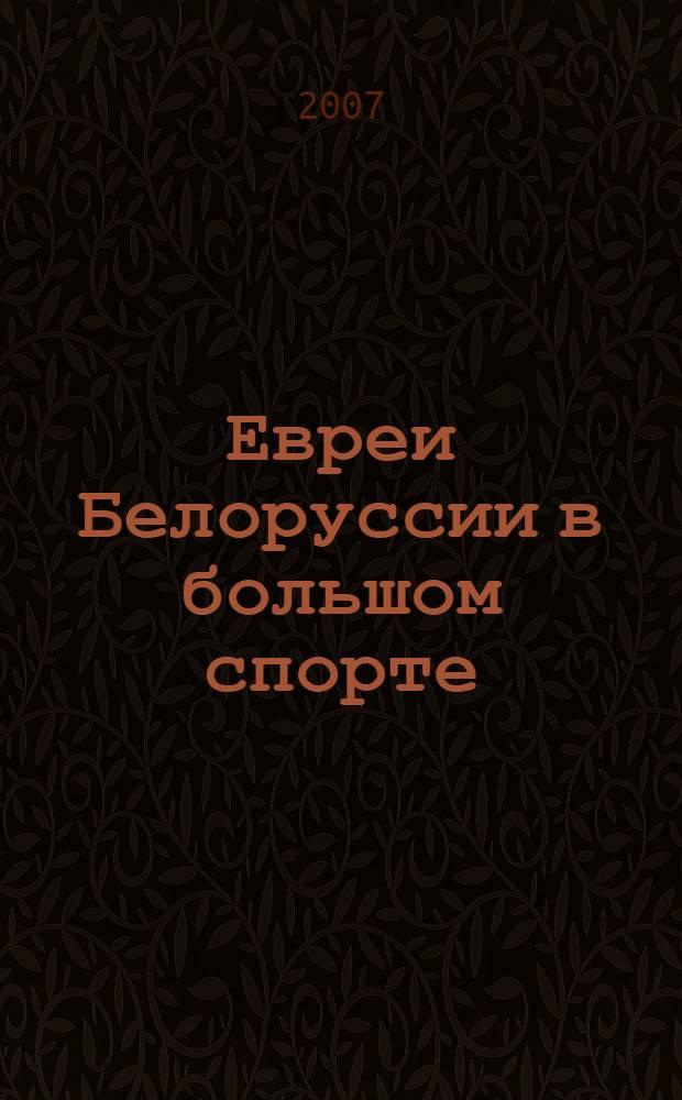 Евреи Белоруссии в большом спорте