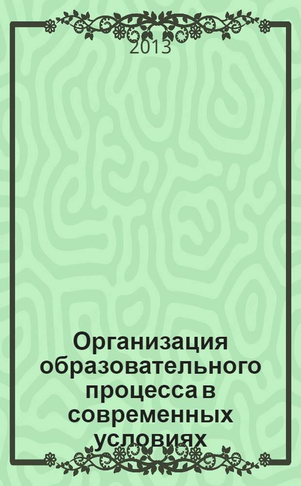 Организация образовательного процесса в современных условиях : материалы учебно-методической конференции