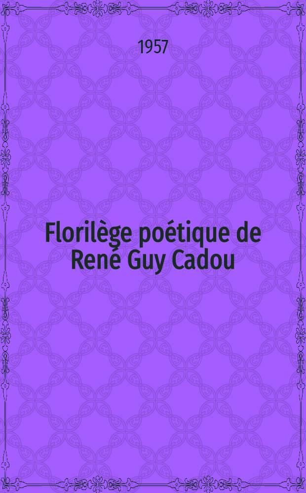 Florilège poétique de René Guy Cadou