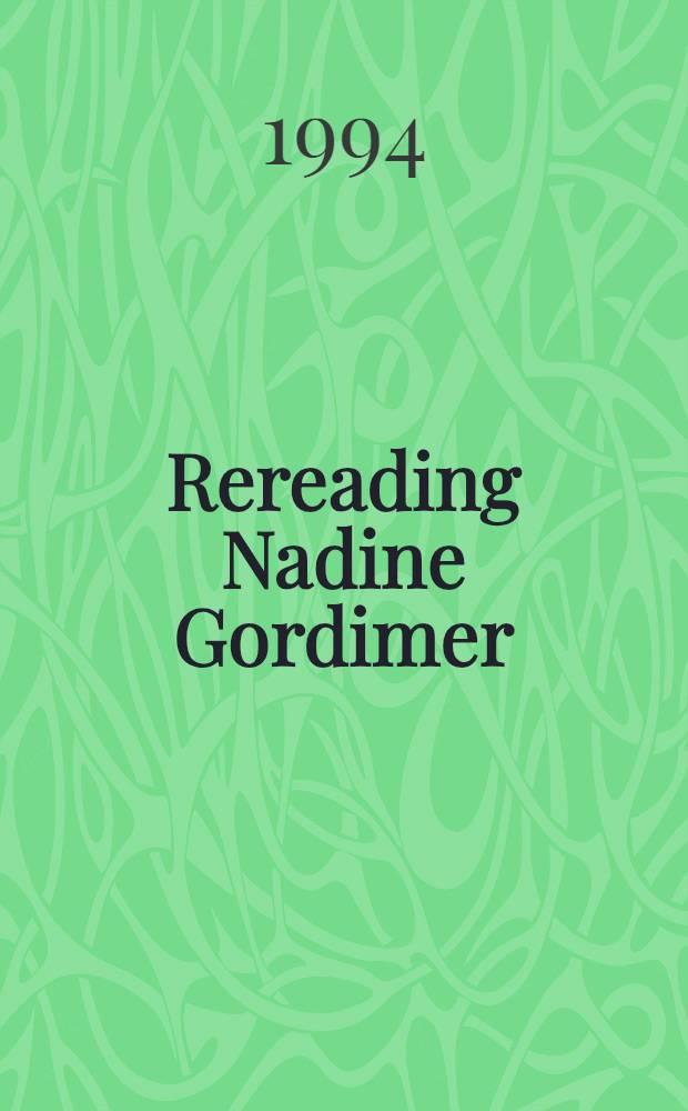 Rereading Nadine Gordimer = Н.Гордимер.
