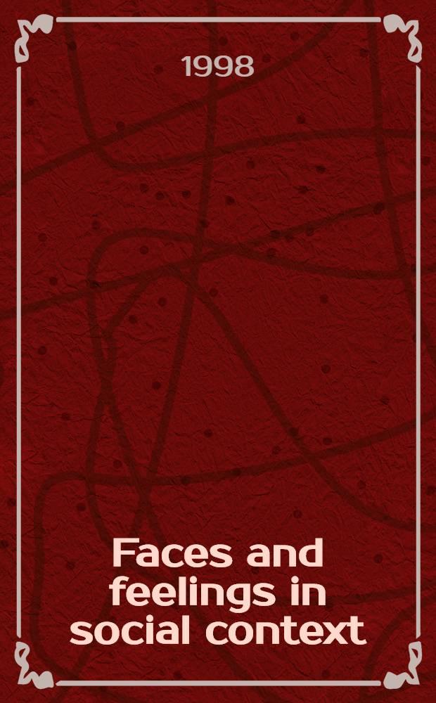 Faces and feelings in social context : Acad. proefschr = Лица и чувства в социальном контексте.