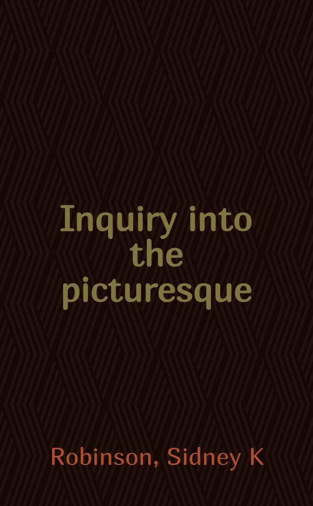 Inquiry into the picturesque