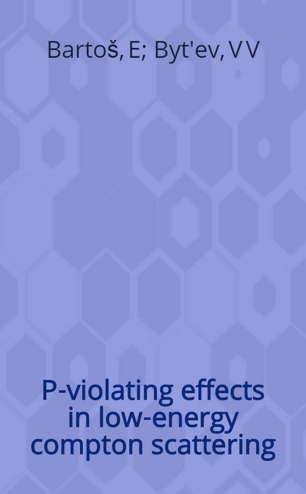 P-violating effects in low-energy compton scattering