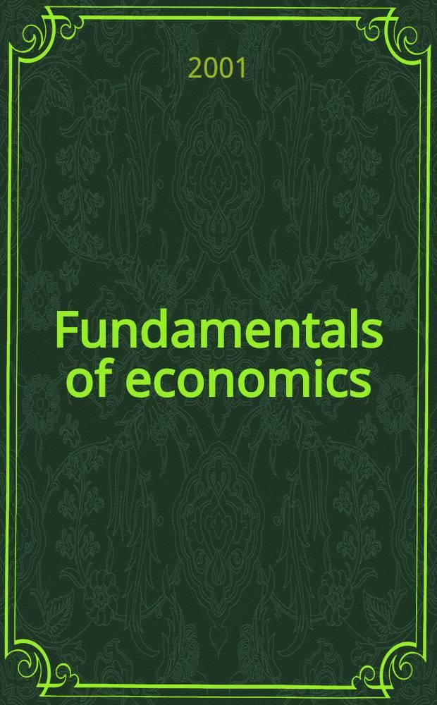 Fundamentals of economics : Training man.