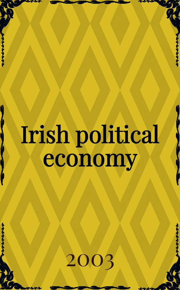 Irish political economy = Ирландская политическая экономия