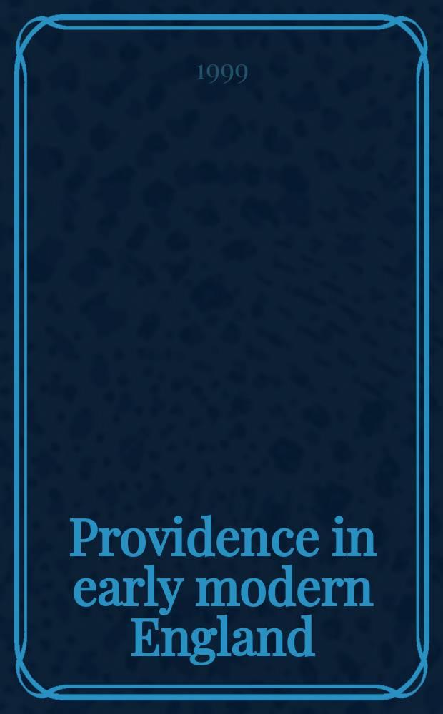 Providence in early modern England = Провидение в Англии раннего нового времени