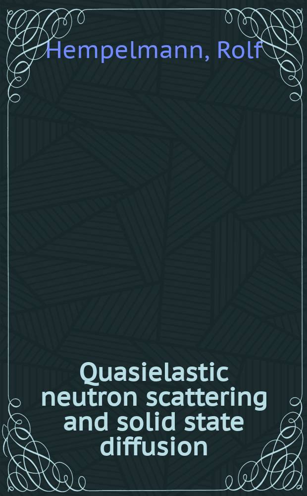 Quasielastic neutron scattering and solid state diffusion