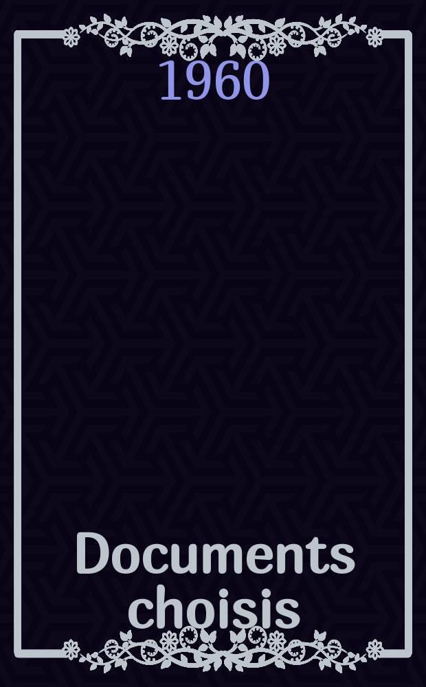 Documents choisis