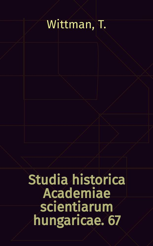 Studia historica Academiae scientiarum hungaricae. 67 : Andean nations in the making
