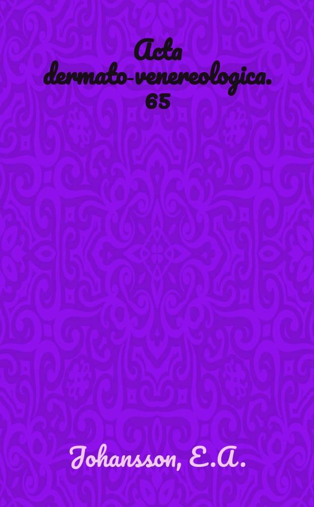 Acta dermato-venereologica. 65 : Clinical and factorial evaluation of 110 CBFP reactors