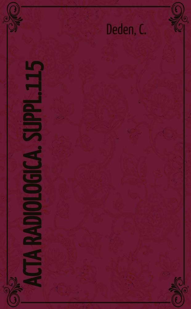 Acta radiologica. Suppl.115 : Cancer cells in urinary sediment