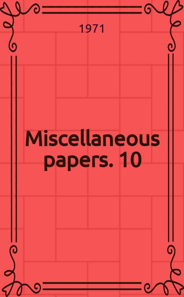 Miscellaneous papers. 10 : Gemengde bedrijvigheid