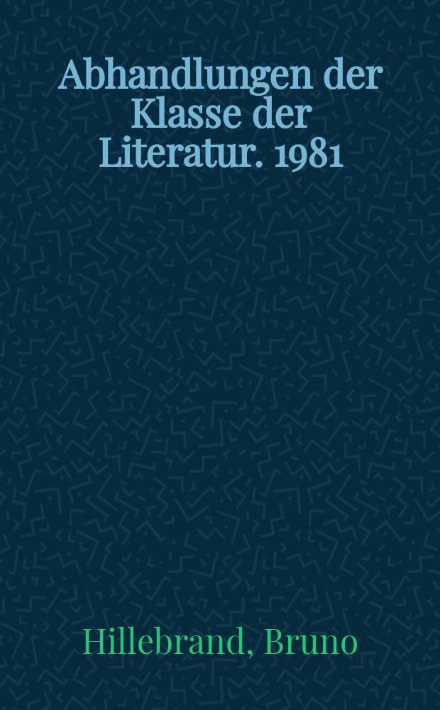 Abhandlungen der Klasse der Literatur. 1981/1982, №7 : Goethes Werther - ein deutsches Thema