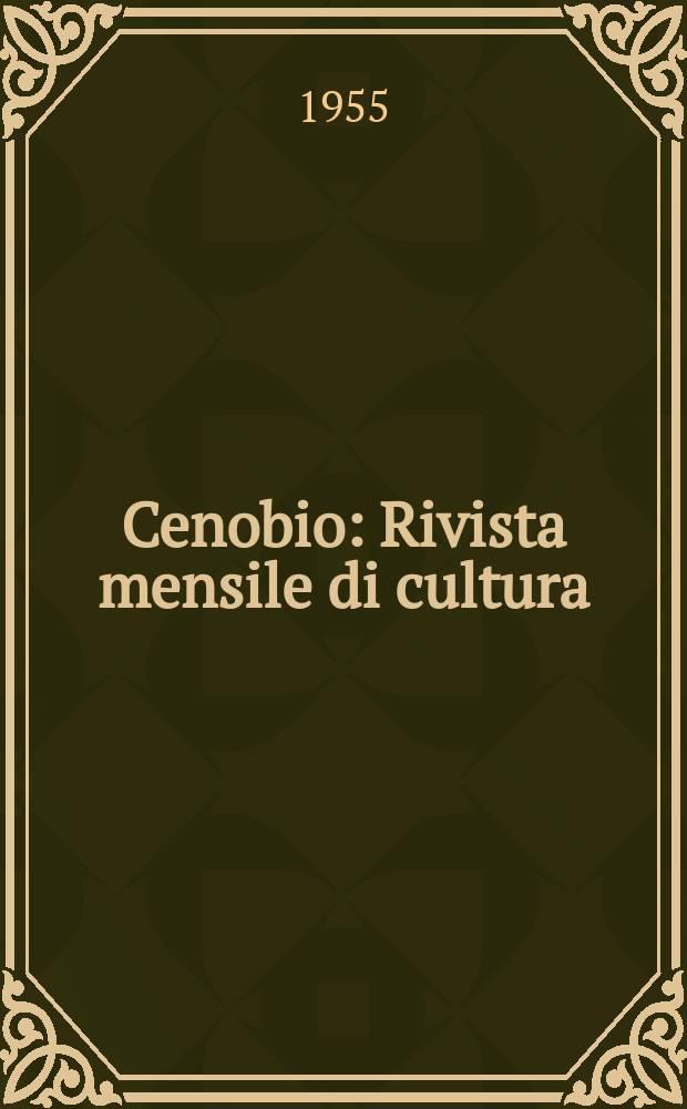 Cenobio : Rivista mensile di cultura