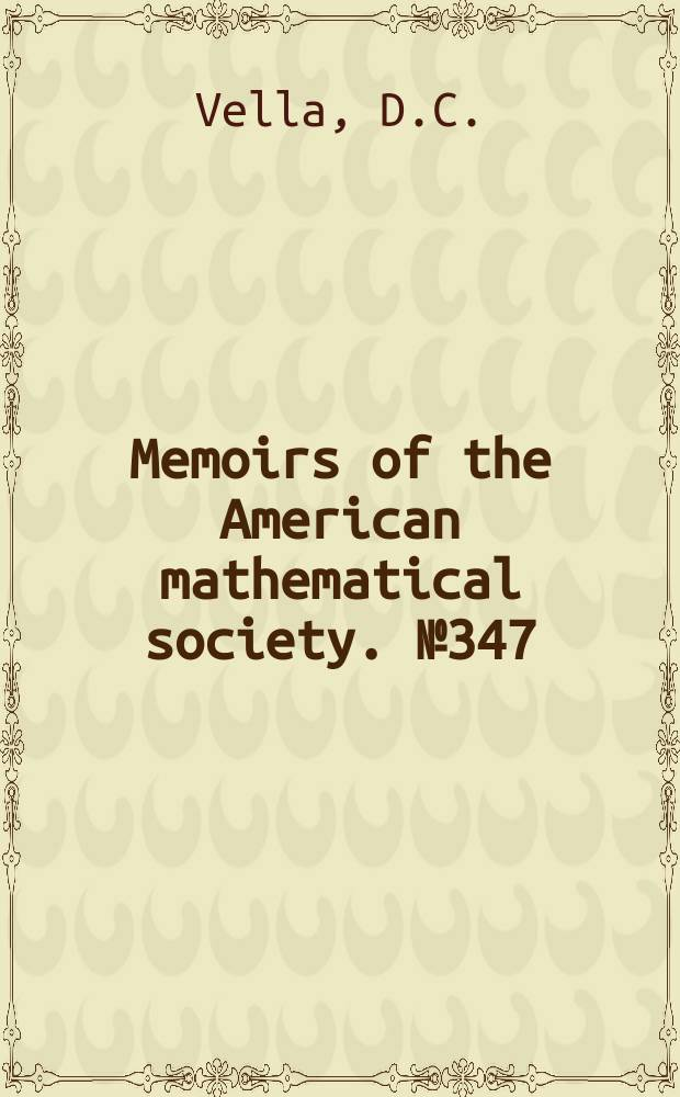 Memoirs of the American mathematical society. №347 : Parabolic subgroups of algebraic groups ...