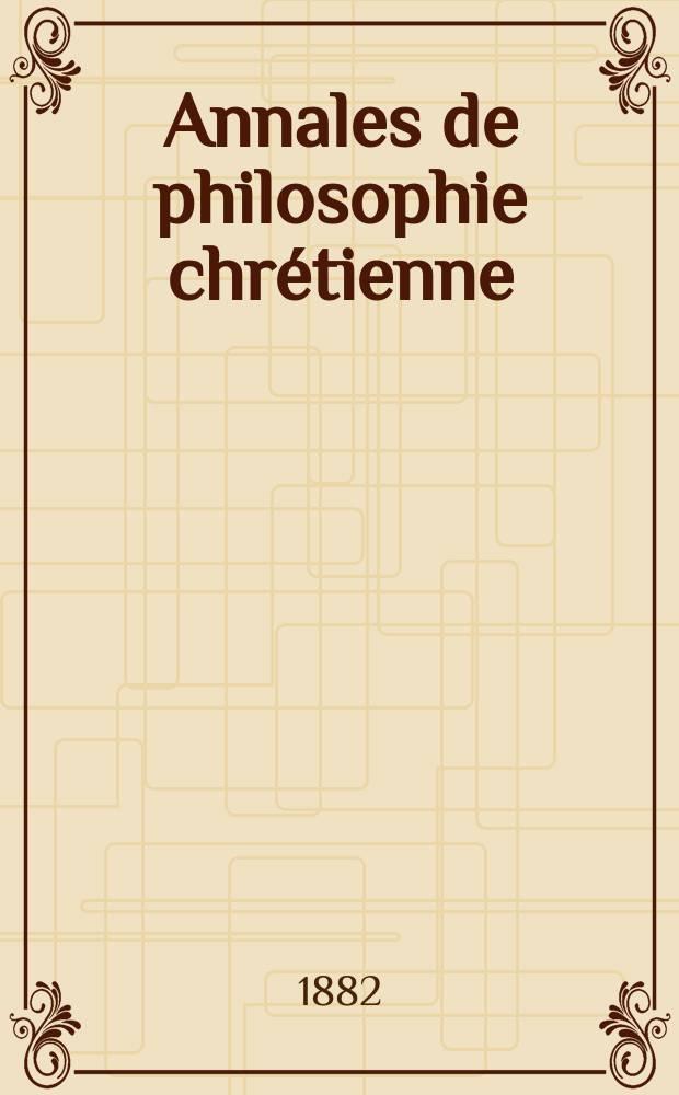 Annales de philosophie chrétienne : Recueil périodique. Année53 1882/1883, T.7[103], №5