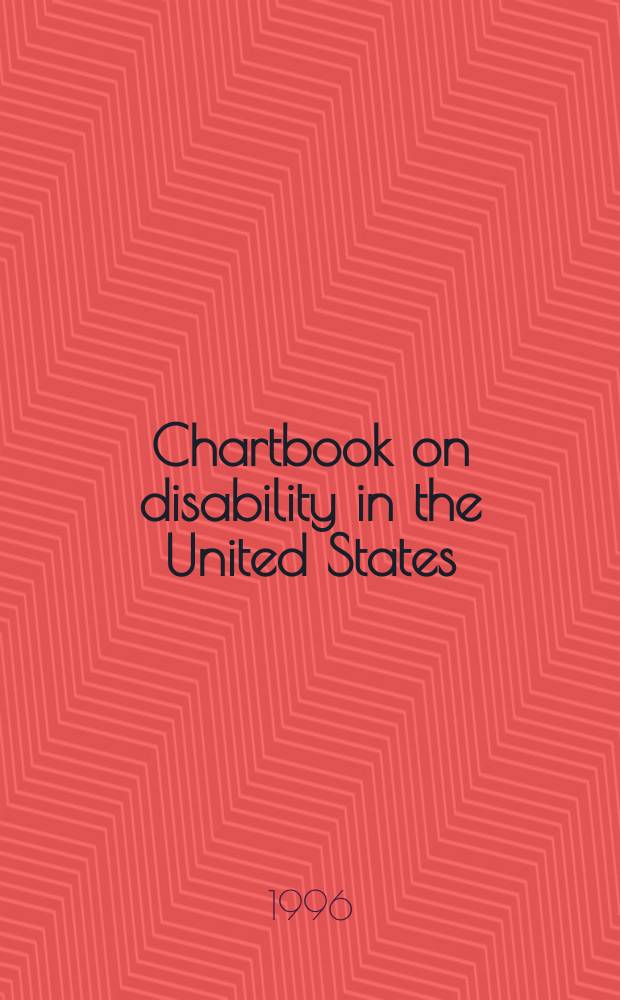 Chartbook on disability in the United States