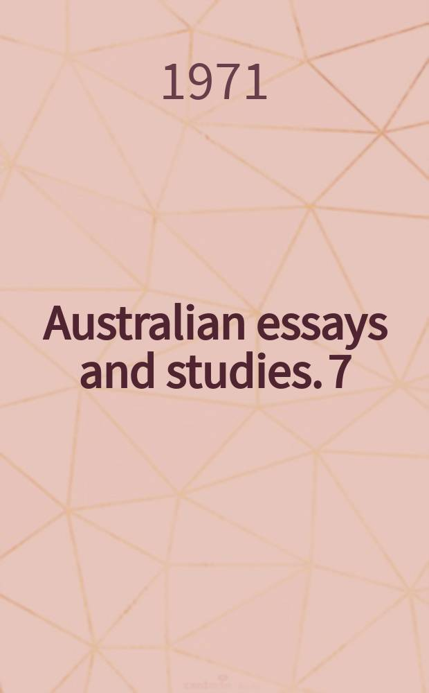 Australian essays and studies. 7 : A comparative typological analysis of a New Guinea Language
