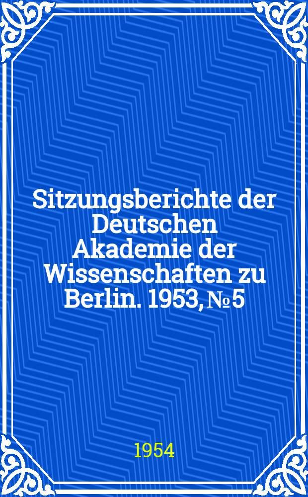 Sitzungsberichte der Deutschen Akademie der Wissenschaften zu Berlin. 1953, №5 : Die Papierchromatographie der kondensierten Phosphate