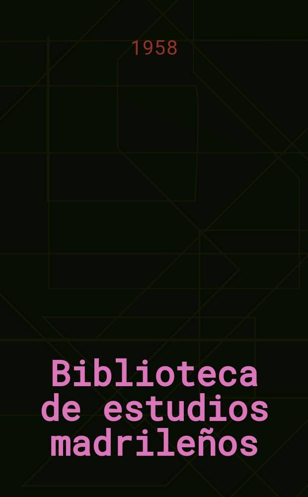 Biblioteca de estudios madrileños