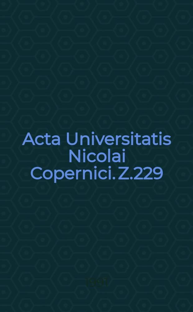 Acta Universitatis Nicolai Copernici. Z.229 : (Literatura)