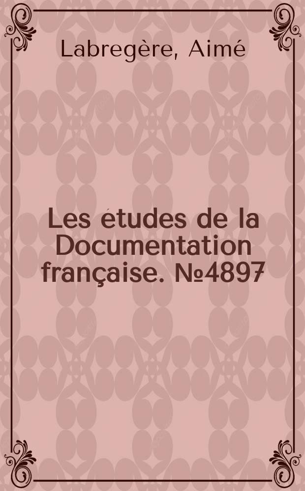 Les études de la Documentation française. №4897 : L'insertion des personnes handicapées