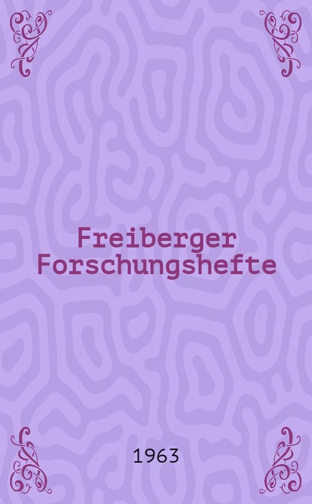 """Freiberger Forschungshefte : Beihefte der Zeitschrift """"Bergakademie"""" : (Arbeitsausschuss """"Flüssige Brennstoffe und Wertstoffe aus Erdöl und Kohle"""")"""