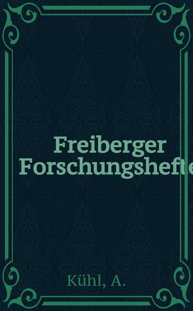"""Freiberger Forschungshefte : Beihefte der Zeitschrift """"Bergakademie"""" : Modellierung sedimentärer Lagerstätten"""