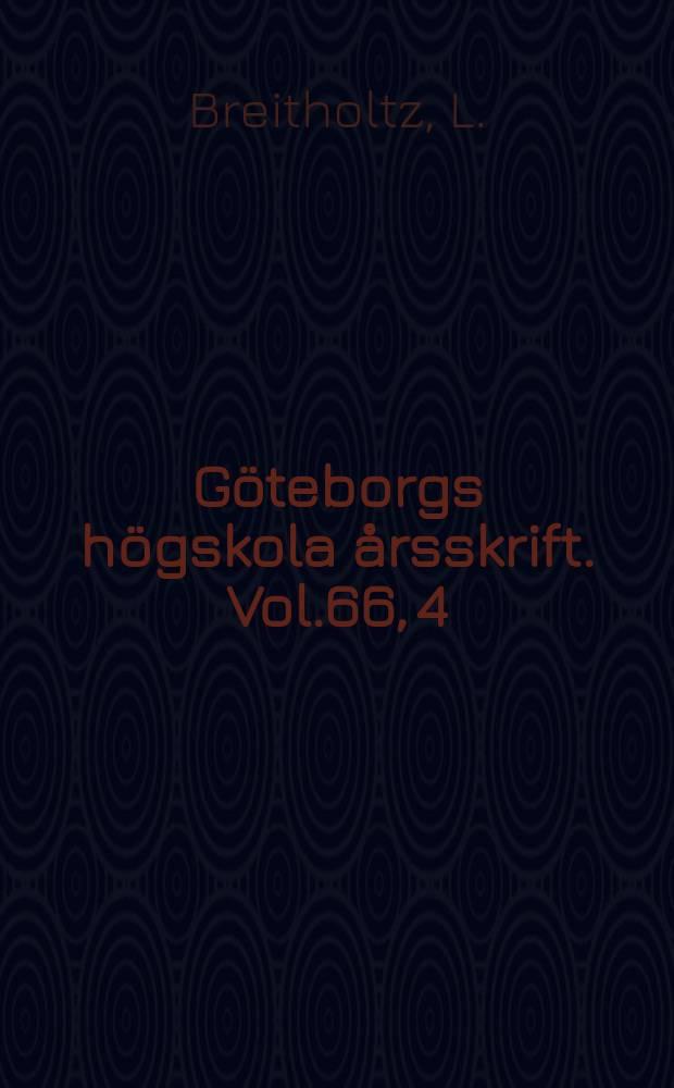 Göteborgs högskola årsskrift. Vol.66, 4 : Die dorische Farce im griechischen Mutterland vor dem 5. Jahrhundert Hypothese oder Realität