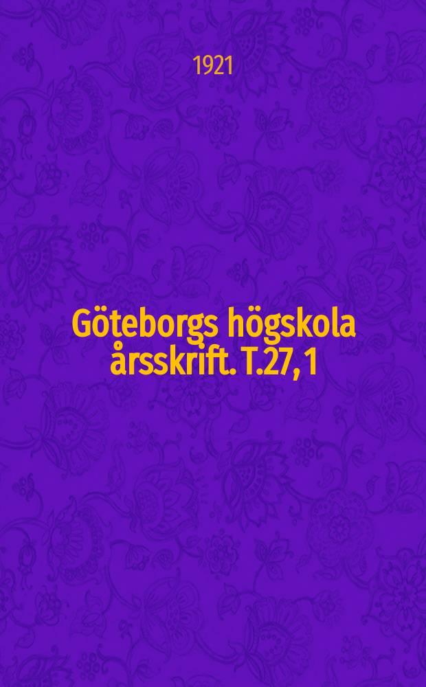 Göteborgs högskola årsskrift. [T.27], 1 : Norsk kämpavisa i östnordisk tradition