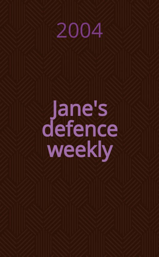 Jane's defence weekly : An intern. Thomson publ. Vol.41, №24
