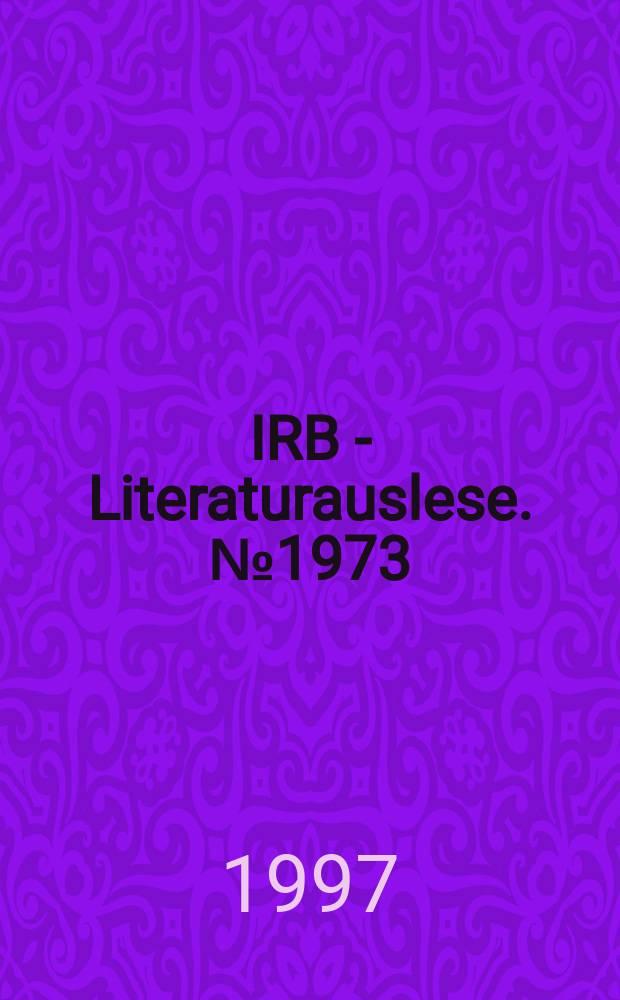 IRB - Literaturauslese. №1973 : Denkmalpflege