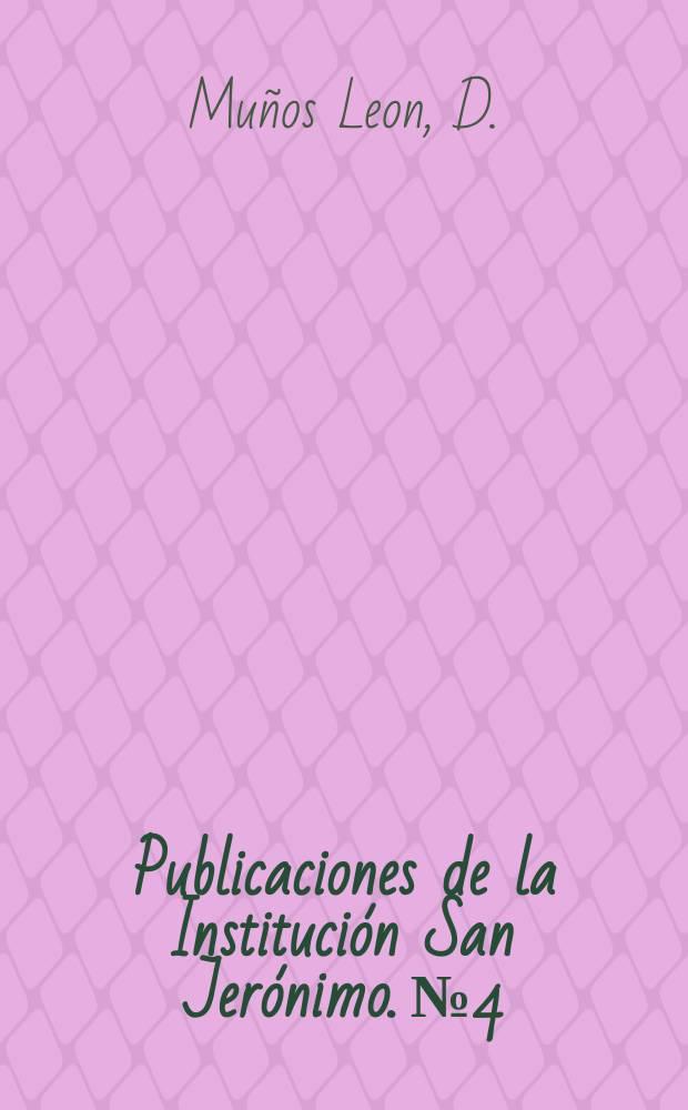 Publicaciones de la Institución San Jerónimo. №4 : Dios- Palabra