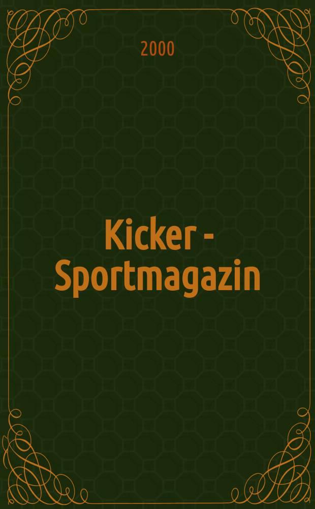 Kicker - Sportmagazin : Deutschlands grösste Sportzeitung. 2000, №86