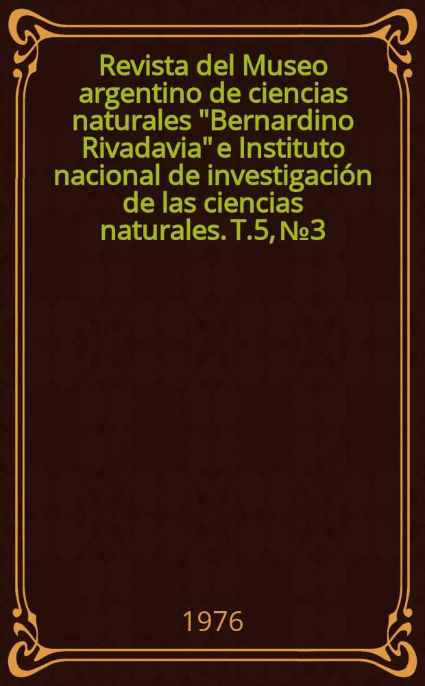 """Revista del Museo argentino de ciencias naturales """"Bernardino Rivadavia"""" e Instituto nacional de investigación de las ciencias naturales. T.5, №3 : Comentarios sobre la categoría sistemática ..."""