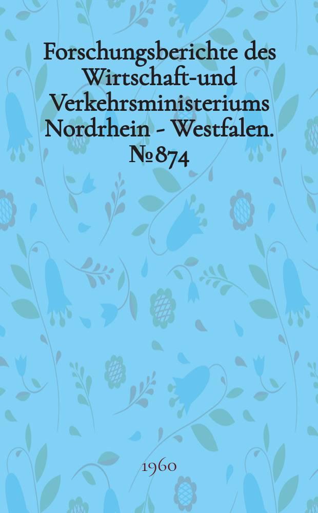 Forschungsberichte des Wirtschafts- und Verkehrsministeriums Nordrhein - Westfalen. №874 : Untersuchungen über rationelle Arbeitsweisen bei Preß- und Bügelvorgängen in Chemisch-Reinigungsbetrieben