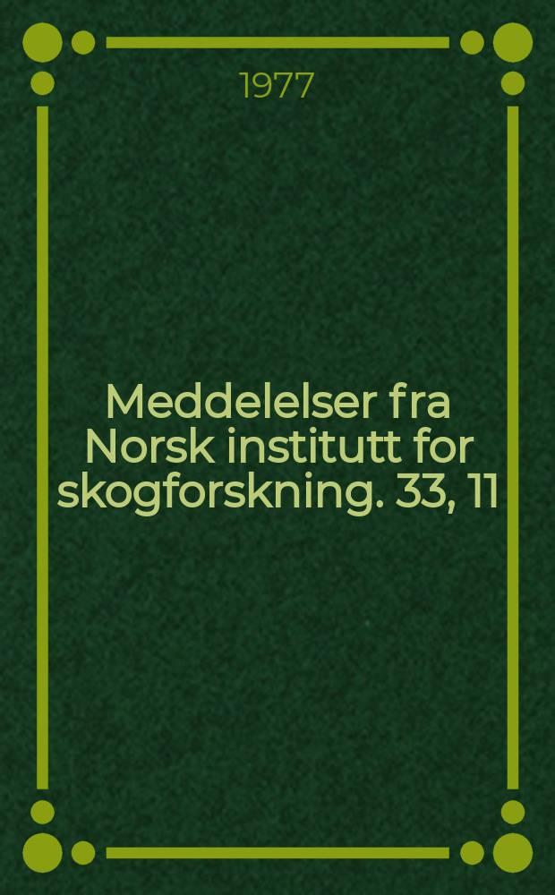 Meddelelser fra Norsk institutt for skogforskning. 33, 11 : Wood-in habiting fungi ...