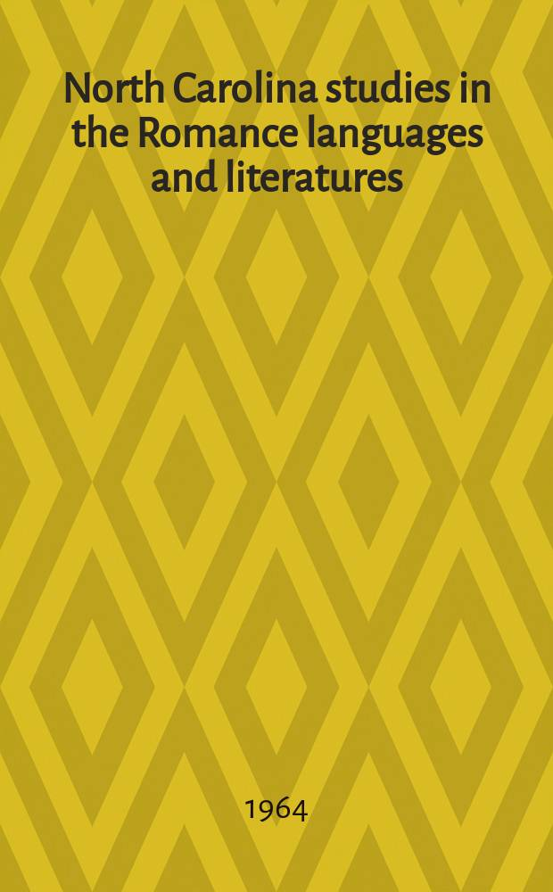 North Carolina studies in the Romance languages and literatures : Essays, texts, textual studies and translations, symposia. №47 : Cuba's romantic poet