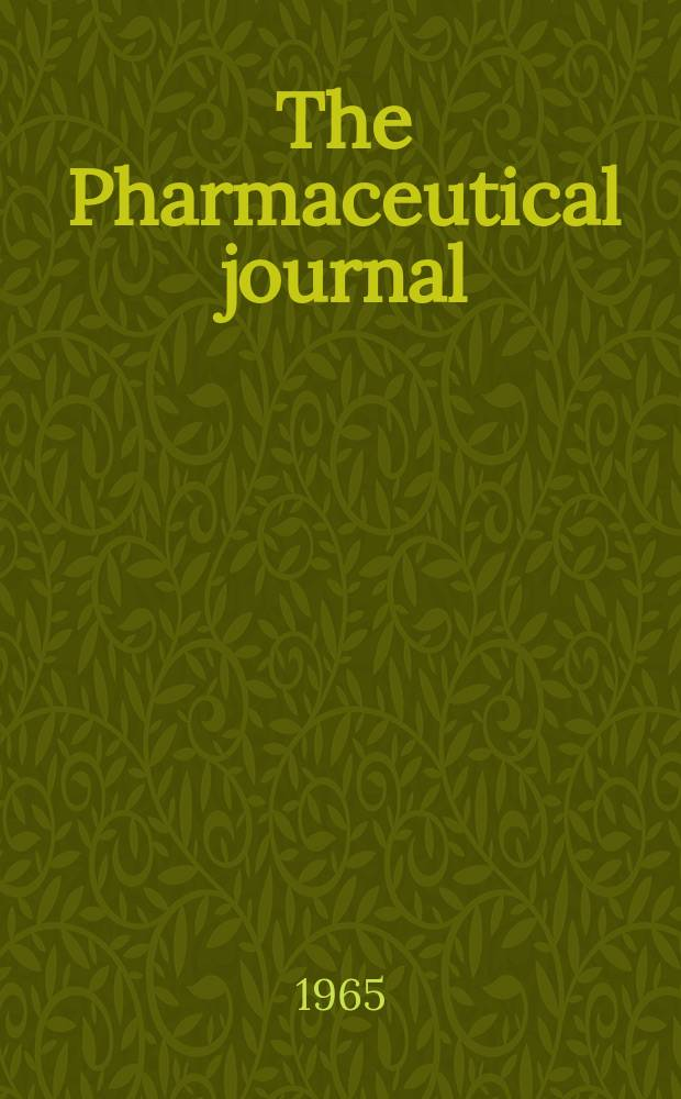 The Pharmaceutical journal : A weekly record of pharmacy and allied sciences Establ. 1841. Vol.[140] (194), №5290