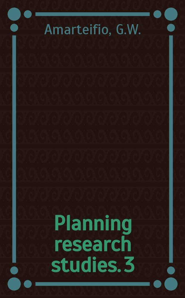 Planning research studies. 3 : Tema Manhean