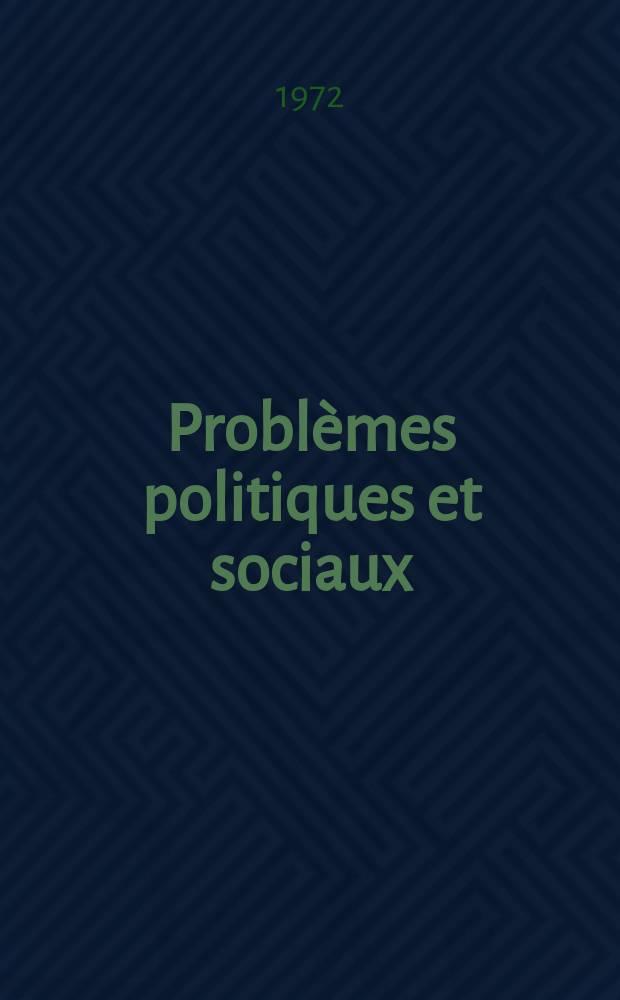 Problèmes politiques et sociaux : Articles et documents d'actualité mondiale. Année 3 №132