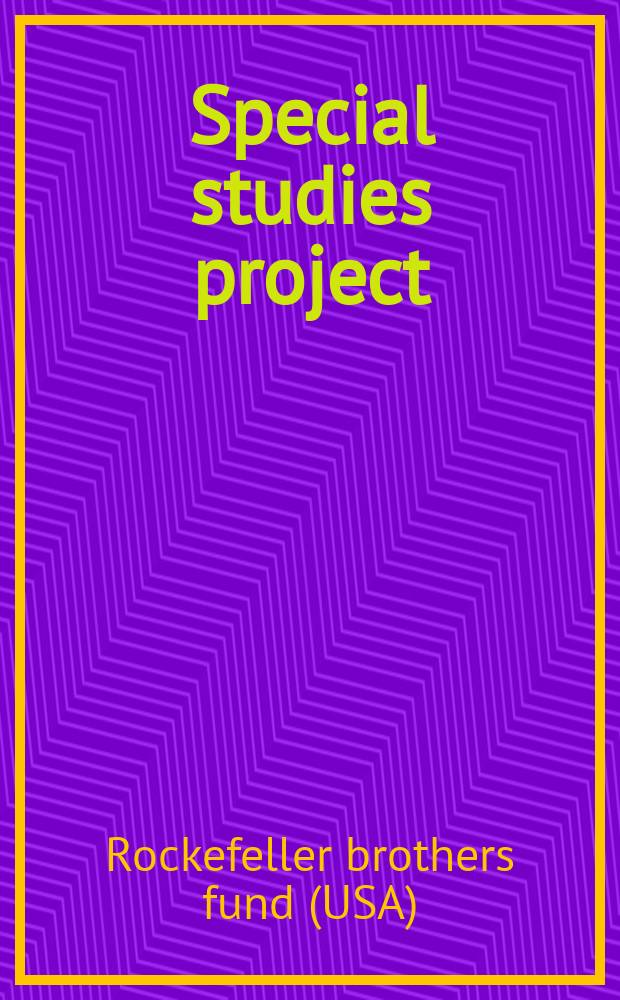 Special studies project