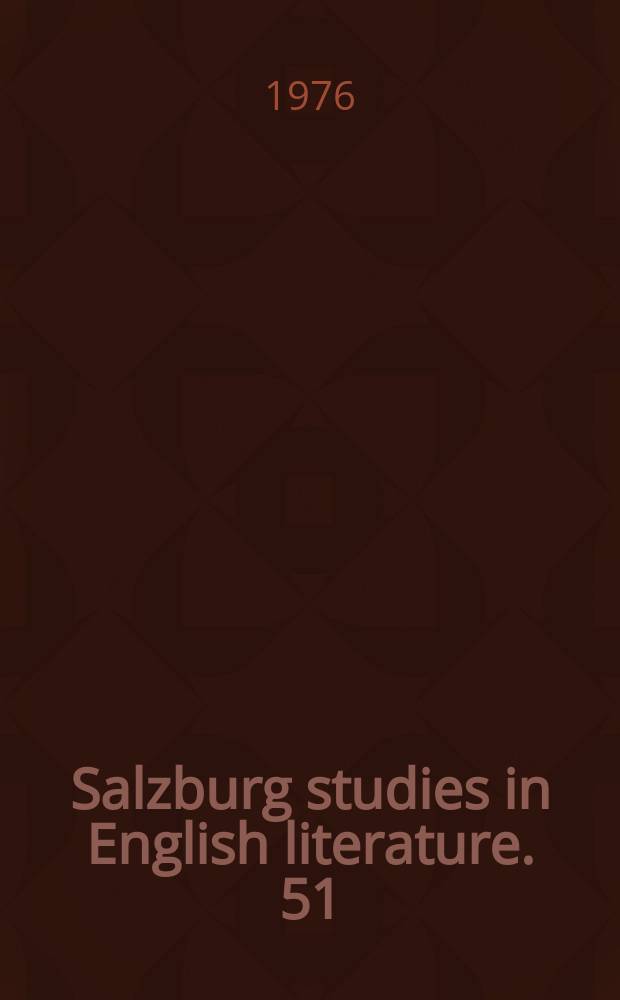 Salzburg studies in English literature. 51 : Rome and Romans according to Shakespeare