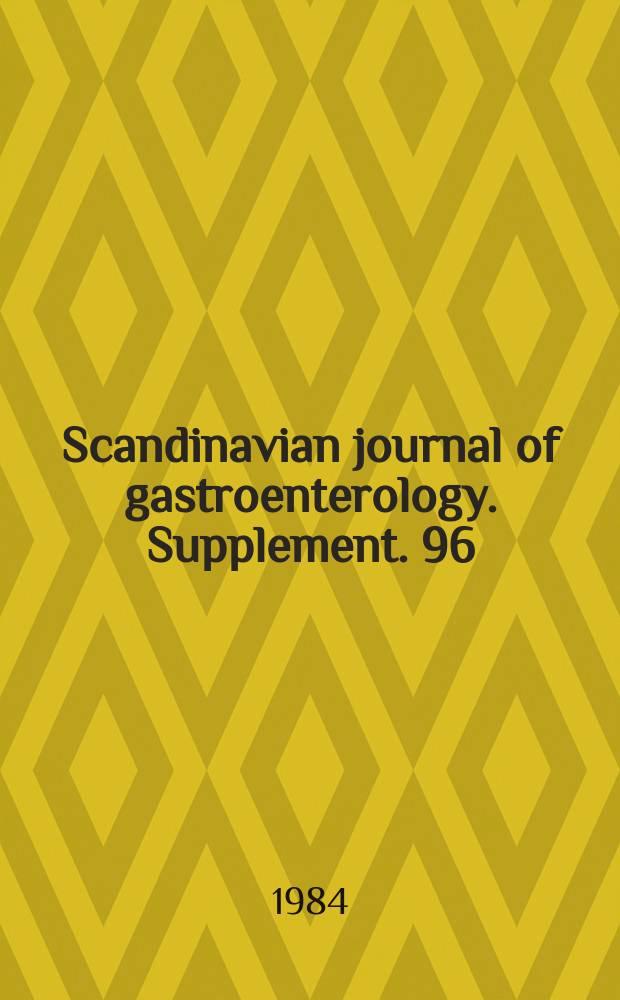 Scandinavian journal of gastroenterology. Supplement. 96 : New development in gut motility
