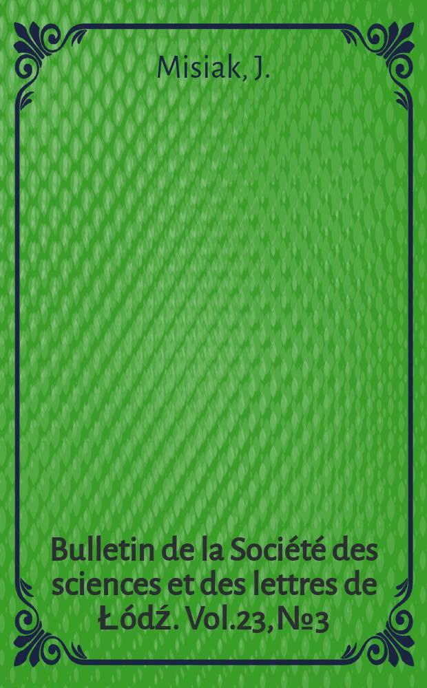 Bulletin de la Société des sciences et des lettres de Łódź. Vol.23, №3 : Spin waves in cylindrical thin films