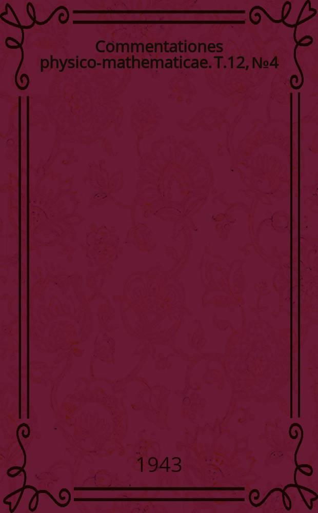 Commentationes physico-mathematicae. T.12, №4 : Zur Methodik der Zahlen- und Tabellenbehandlung in meteorologischen Beispielen