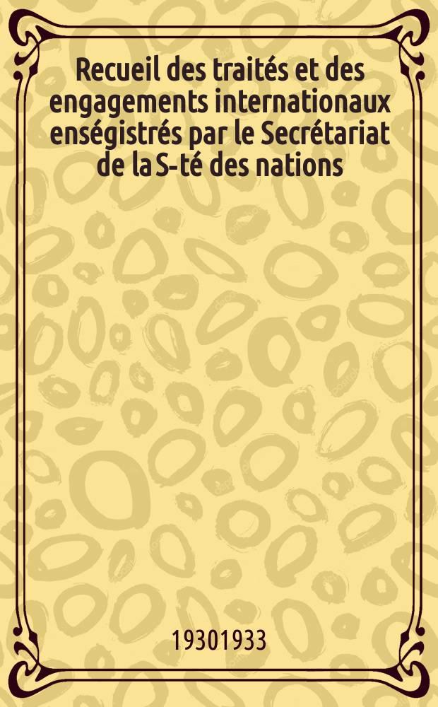 Recueil des traités et des engagements internationaux enségistrés par le Secrétariat de la S-té des nations : Treaty series. Vol.131/152 1932/1934, №6, Traités №3071