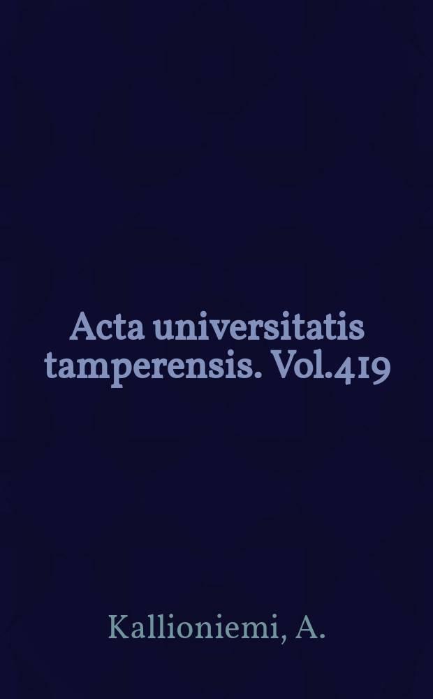 Acta universitatis tamperensis. Vol.419 : Development of molecular cytogenetic techniques