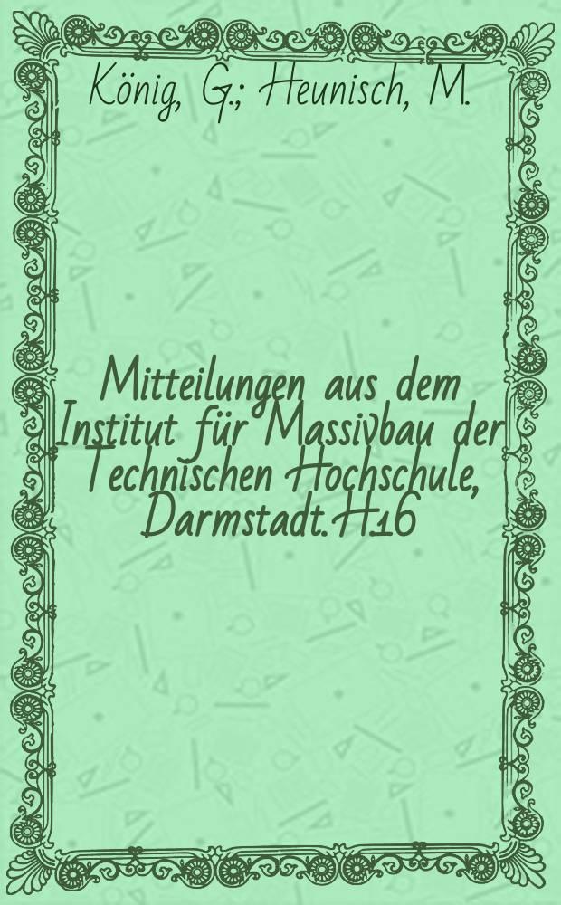 Mitteilungen aus dem Institut für Massivbau der Technischen Hochschule, Darmstadt. H.16 : Zur statistischen Sicherheitstheorie ...